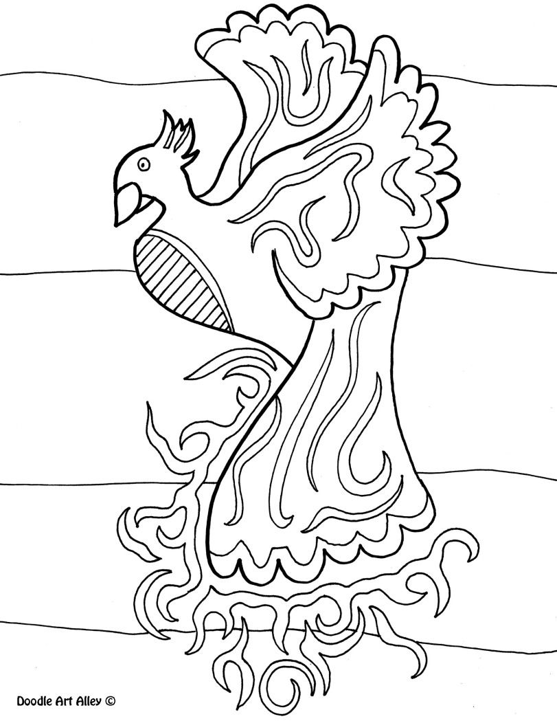 Bird Coloring Pages Doodle Art Alley Bird coloring pages
