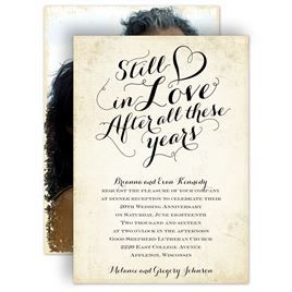 Still In Love Anniversary Invitation  Wedding Invitations
