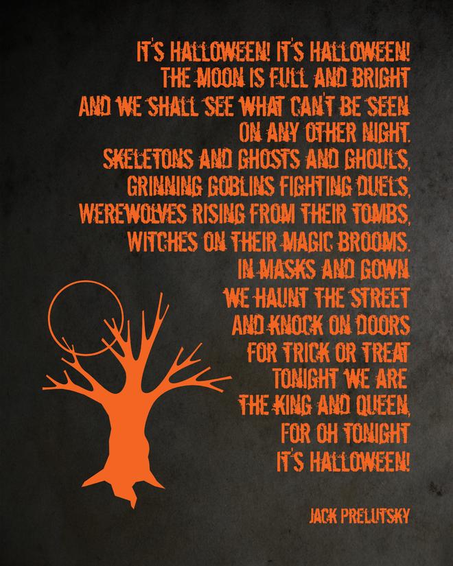 It's Halloween! 8x10   Halloween poems, Halloween poster, Halloween printables