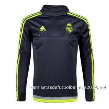 Camiseta entrenamiento manga larga Real Madrid 2016 negro