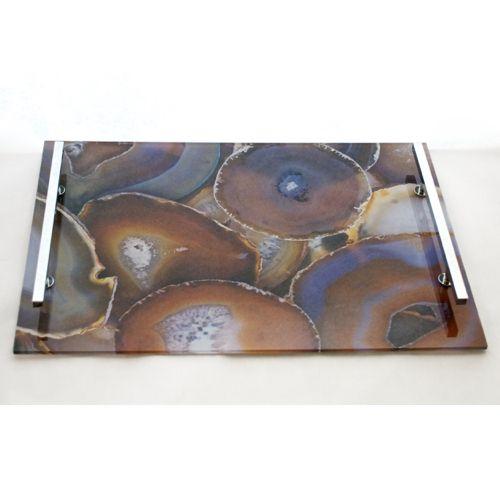 Acrylic Decorative Tray Acrylic Agate Tray Amber  Acrylics Polished Nickel And Trays