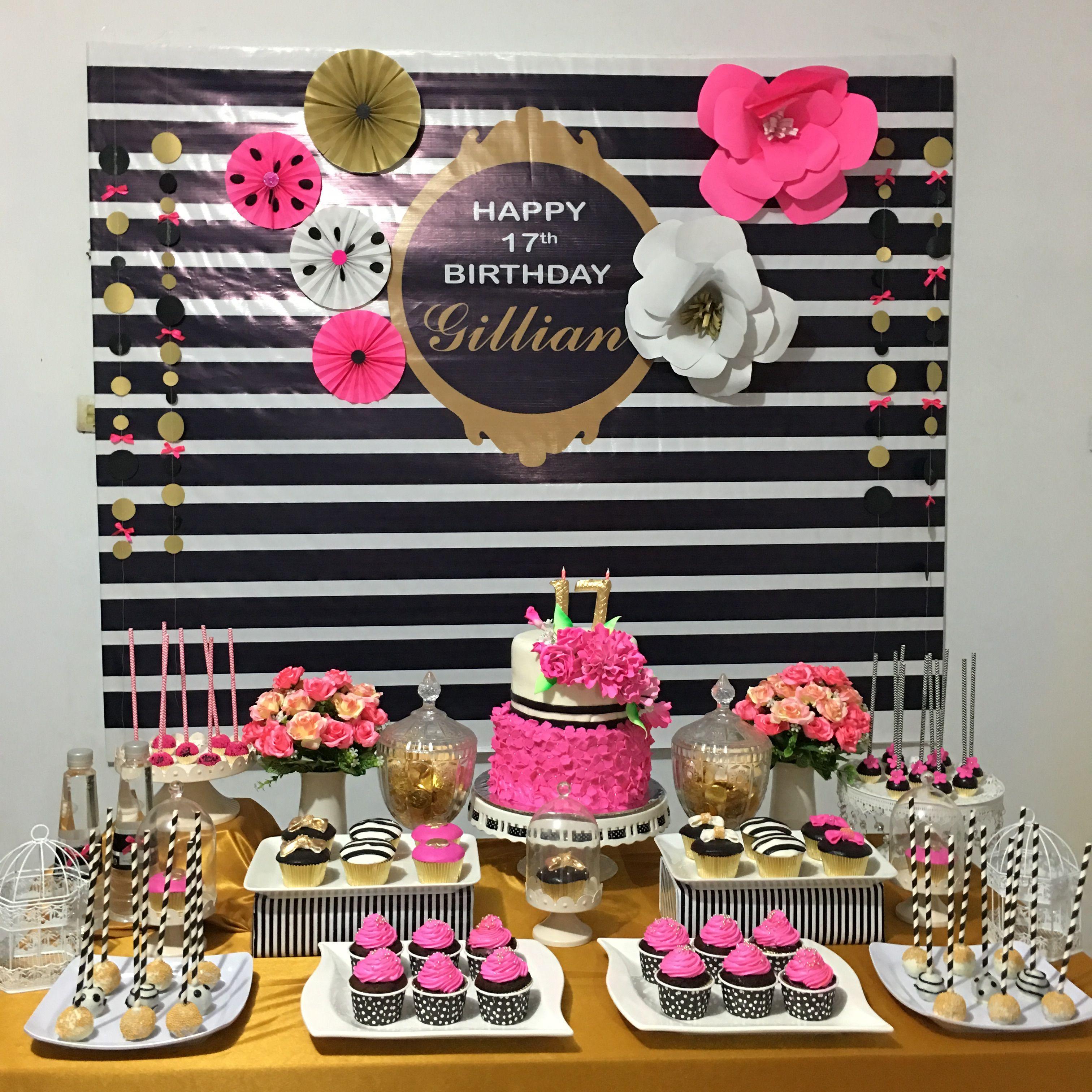 Kate Spade Ideas Dessert Table Birthday Party Decorations 50th Birthday Party 40th Birthday Parties