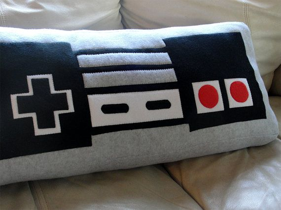 Room  awesome nintendo controller pillow