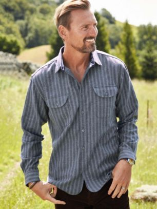 b966b74a FITTED STRIPE BUCKLEY SHIRT | Wool & Whiskers | Shirts, Pendleton ...