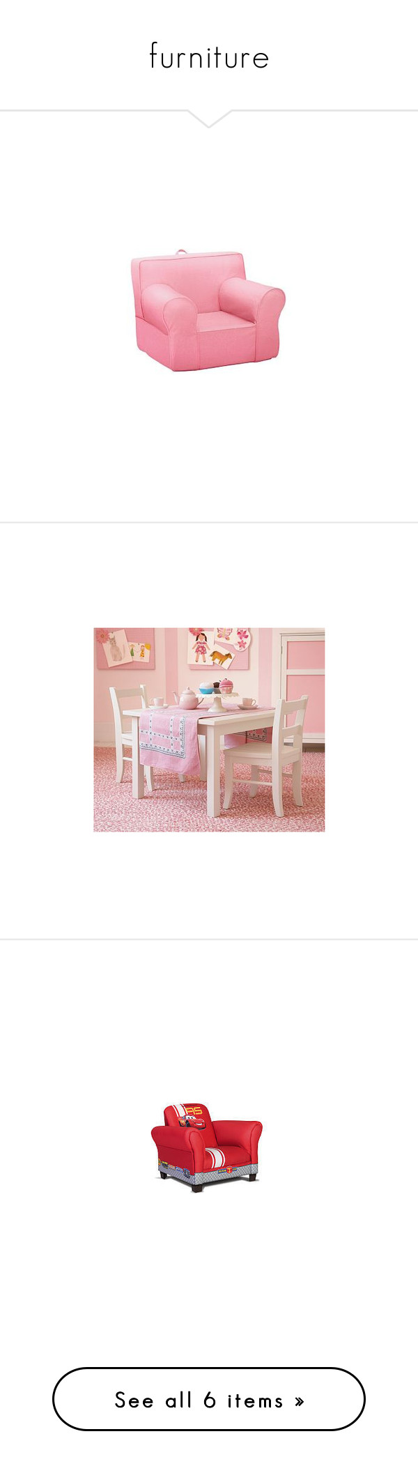 """furniture"" by likeamightyoak ❤ liked on Polyvore featuring bebe, room, baby, home, furniture, chairs, pastel furniture and toys"