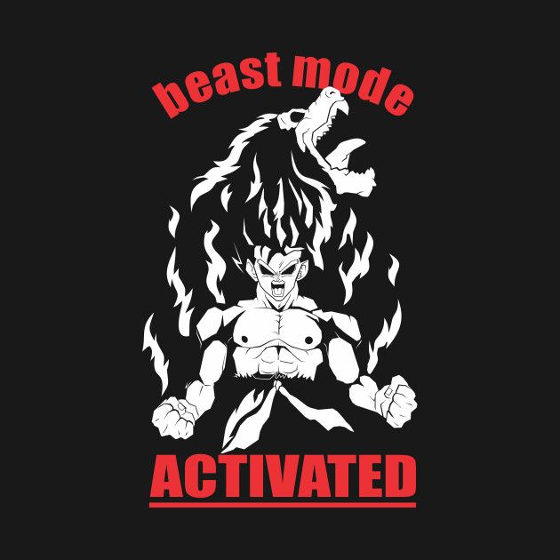 awesome beastmode design on teepublic dragon ball