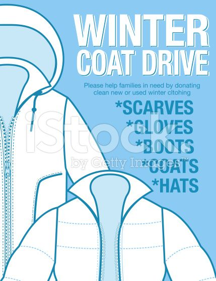 Winter Coat Drive Charity Poster Template Assortment Of Coats In