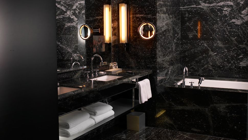 Black tile bathroom 005349 07 black tile for Black tile bathroom designs