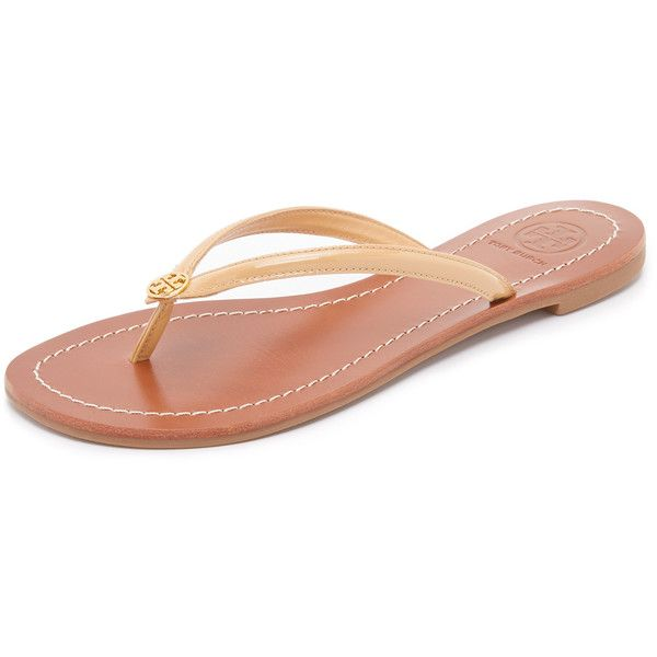 6239b2ddf Tory Burch Terra Thong Sandals (455 ILS) ❤ liked on Polyvore featuring shoes