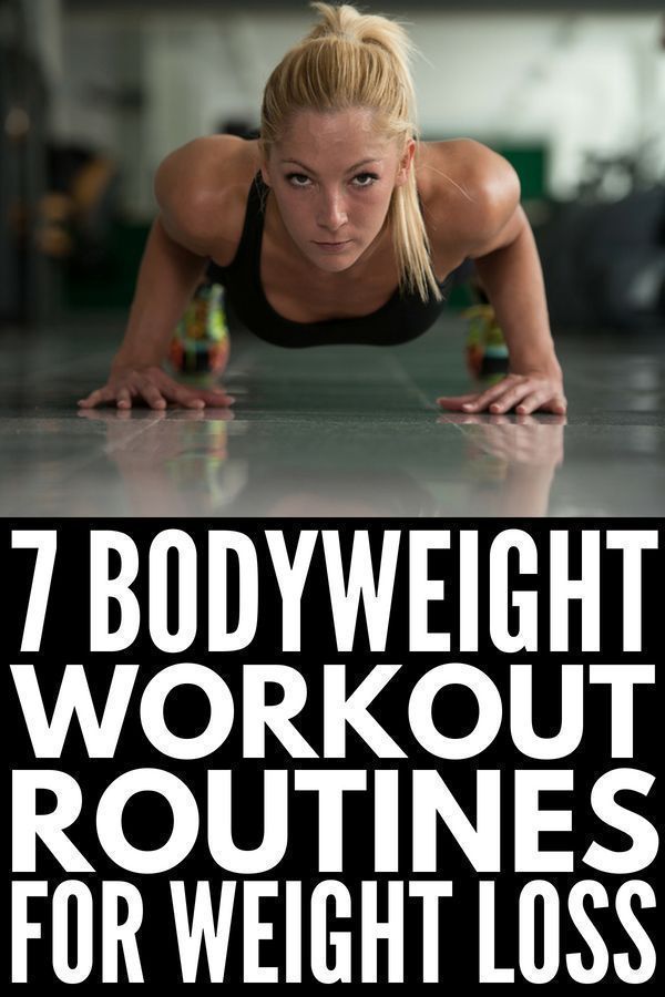 7 Bodyweight Workout Routine Ideas for Beginners | Perfect for women and men, these free exercise ro...