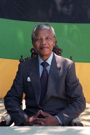1st black president of south africa