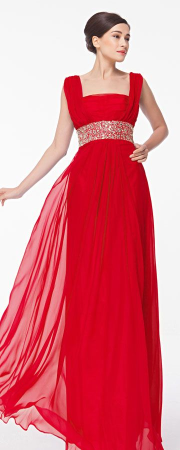 Square Neck Beaded Red Formal Dresses Plus Size | Square necklines ...