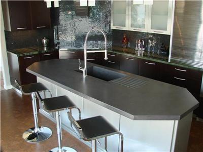 Charcoal Color Countertop Concrete Countertops Pourfolio Custom Concrete San Diego Ca Concrete Countertops Countertops Concrete Furniture