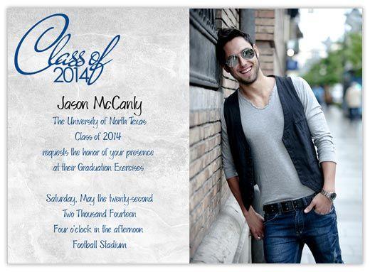 Textured Look Grad - CardsDirect Masculine Graduation Announcement