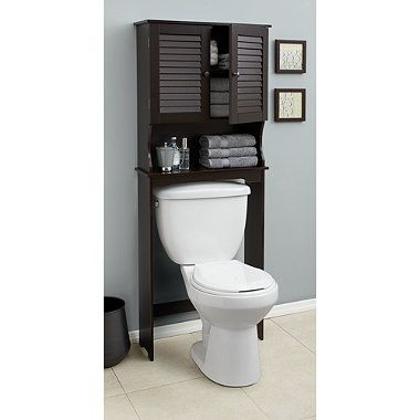 Louvre Bath Space Saver In Espresso Bath Furniture Space Savers Bed Bath And Beyond