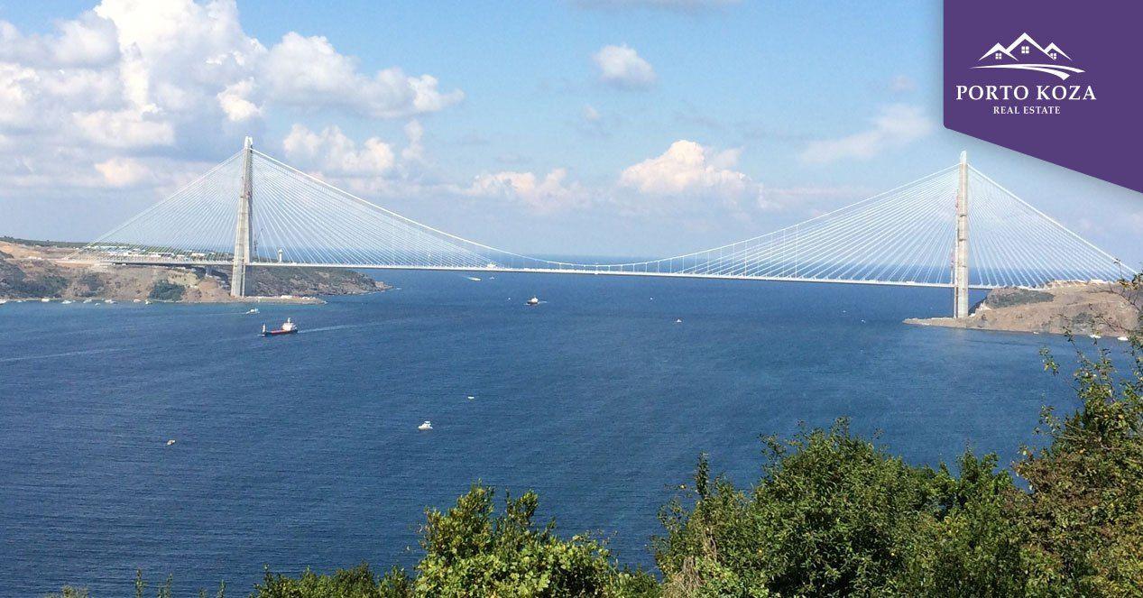 جسر اسطنبول الثالث أكبر جسر معلق في العالم بورتوكوزا العقارية Bay Bridge Golden Gate Golden Gate Bridge