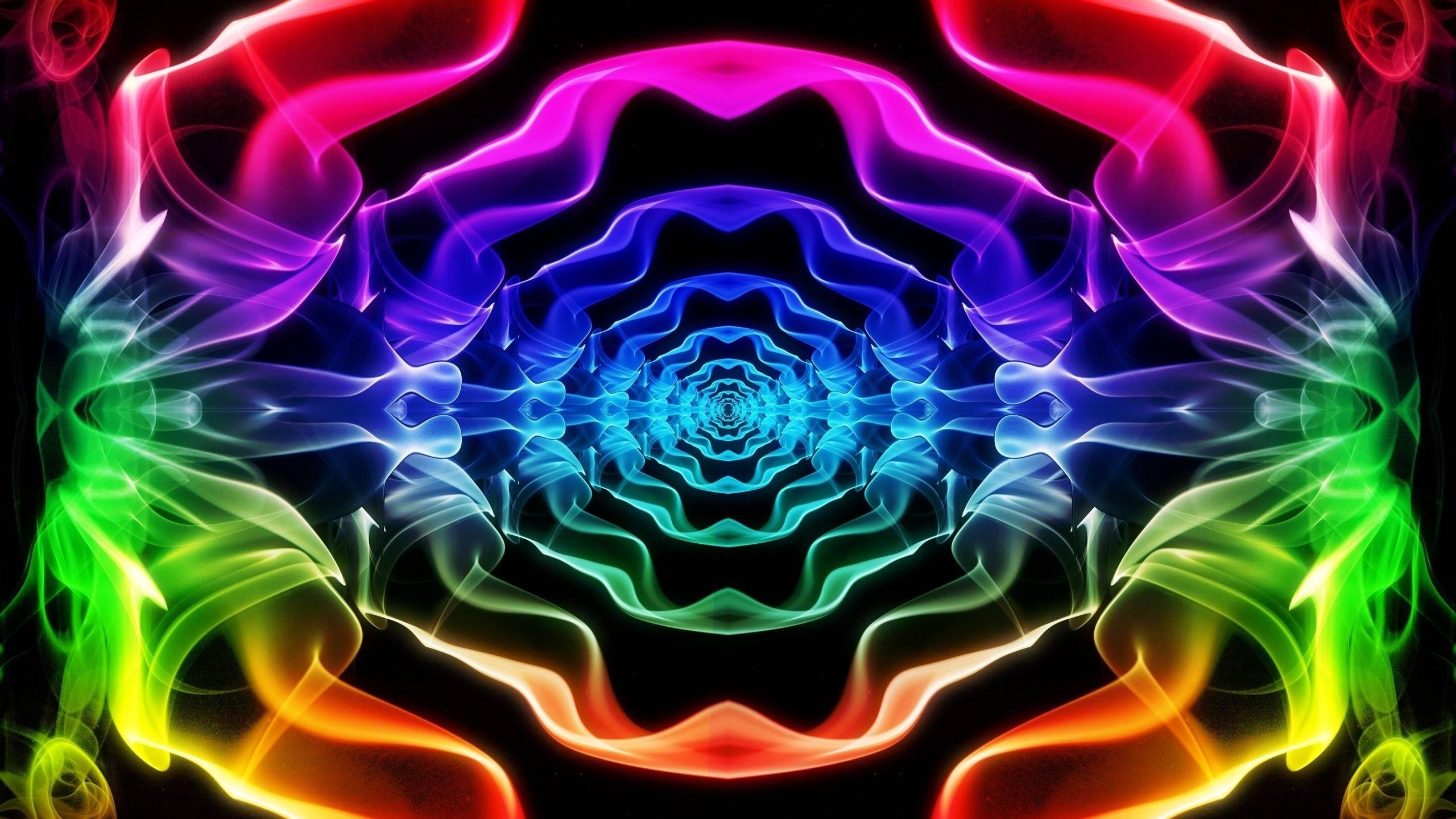 Обои неоновый, Abstract, rainbow, lights, colors, background. Абстракции foto 16