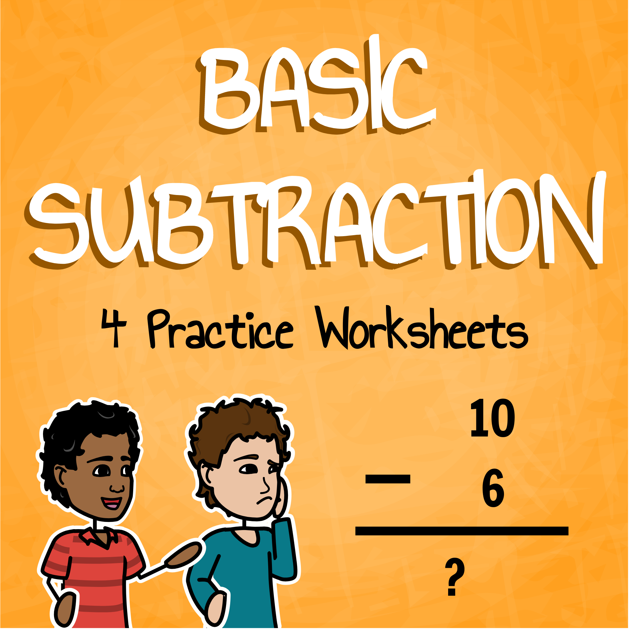 Subtraction Practice Worksheets Mini Pack