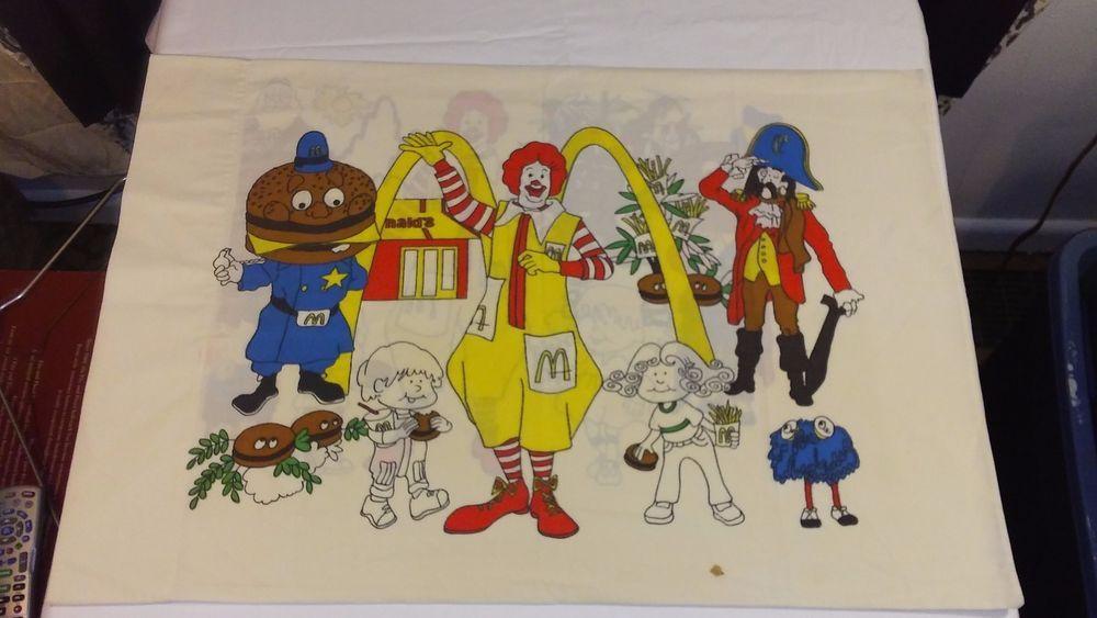 1976 mcdonalds mcdonaldland pillow case popping colors for