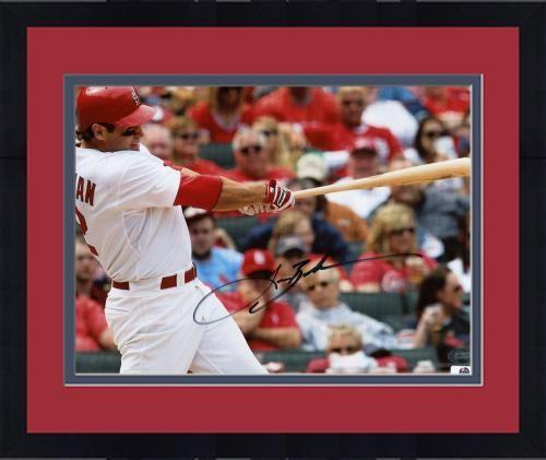 Framed Lance Berkman Signed 8x10 Photograph - GA #SportsMemorabilia #StLouisCardinals