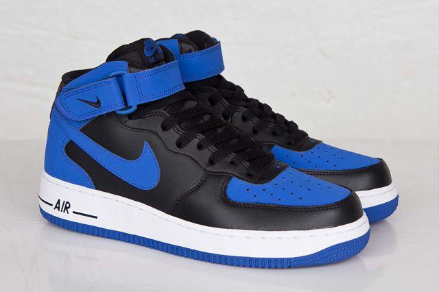 Nike Air Force 1 Black And Blue
