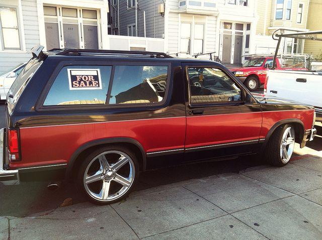 Blazer Lowered Painted Rims Chevy S10 Chevrolet Blazer