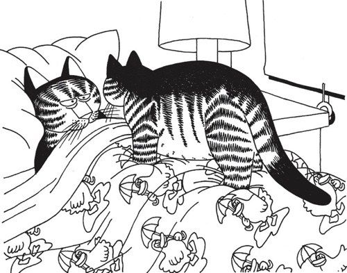 Best Coloring Books For Cat Lovers Cat Coloring Page Kliban Cat