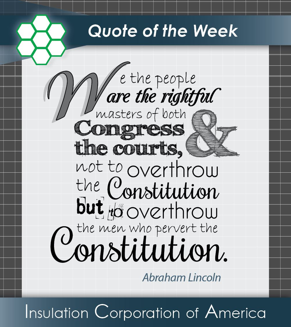 Constitution Quotes: Abraham Lincoln #Inspiration