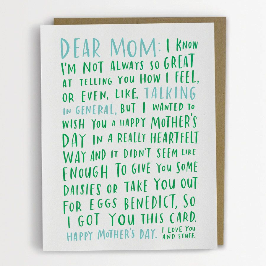 Awkward mothers day card funny mothers day card mothers day awkward mothers day card funny mothers day card 200 c new item from emily mcdowell kristyandbryce Image collections