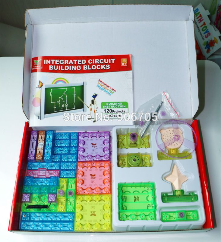 New 120 Projects Snap Integrated Circuit Building Block Electronic