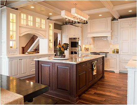 Woodbury Square Bisque Crystal Cabinets