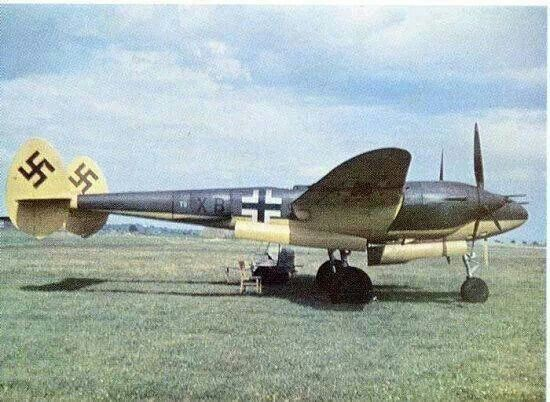 Captured P-38 from an American defector.