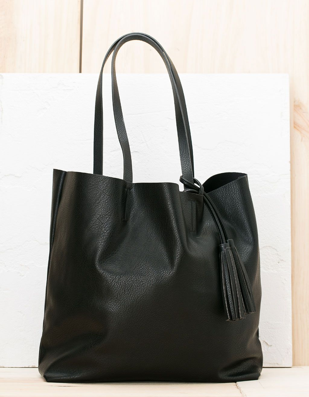 227ba4452fa2 Basic soft shopper bag. Discover this and many more items in Bershka with  new products every week
