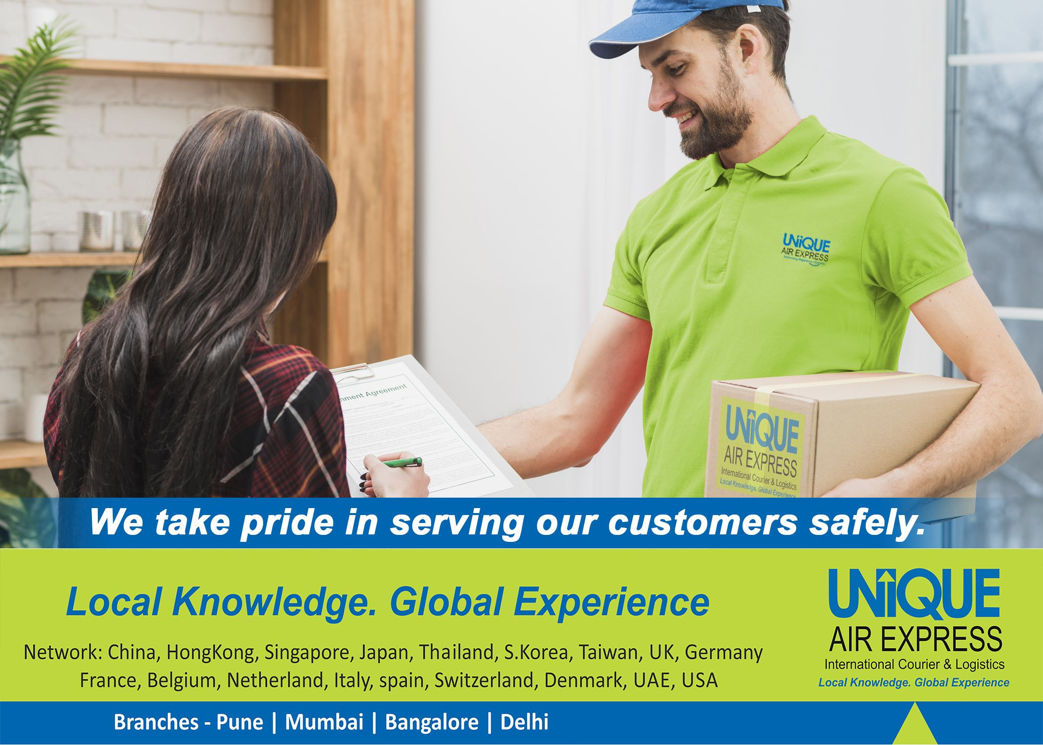 Unique Air Express takes pride in serving our customers