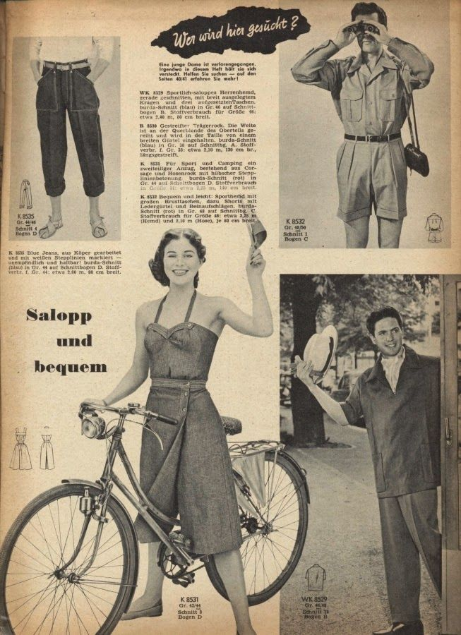 Burda Moden May 1955 sportswear | burda vintage | Pinterest