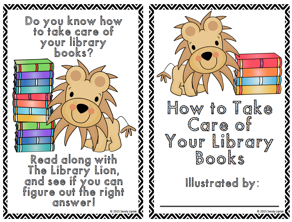 Library Lion Book Care Book
