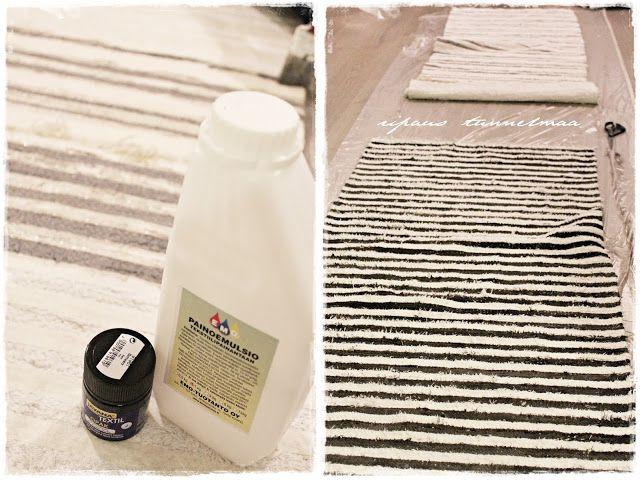 ripaus tunnelmaa: mattojen maalausta...