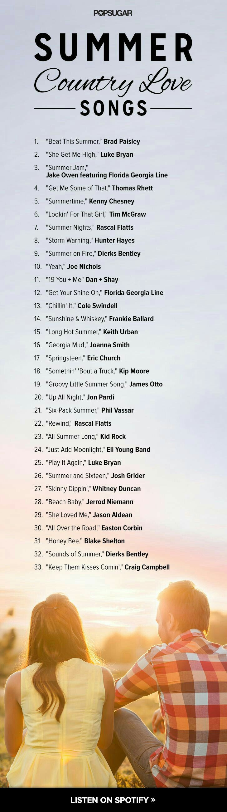 Summer Country Love Song S Country Love Songs Country Songs Love Songs