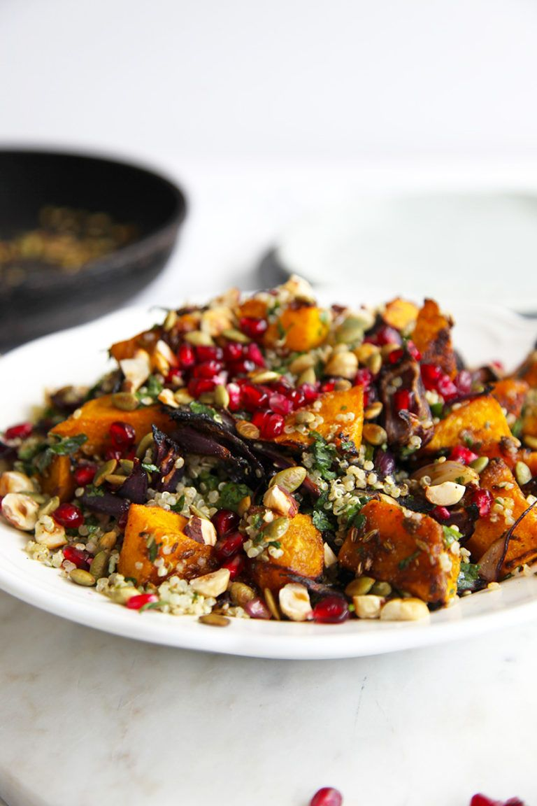 Roasted Pumpkin Quinoa Salad - Little Big H #saladeautomne