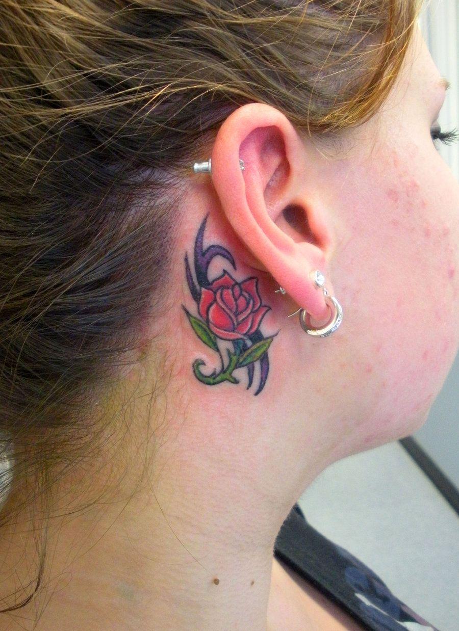 Rose Behind Ear By Painlessjamesiantart On Deviantart