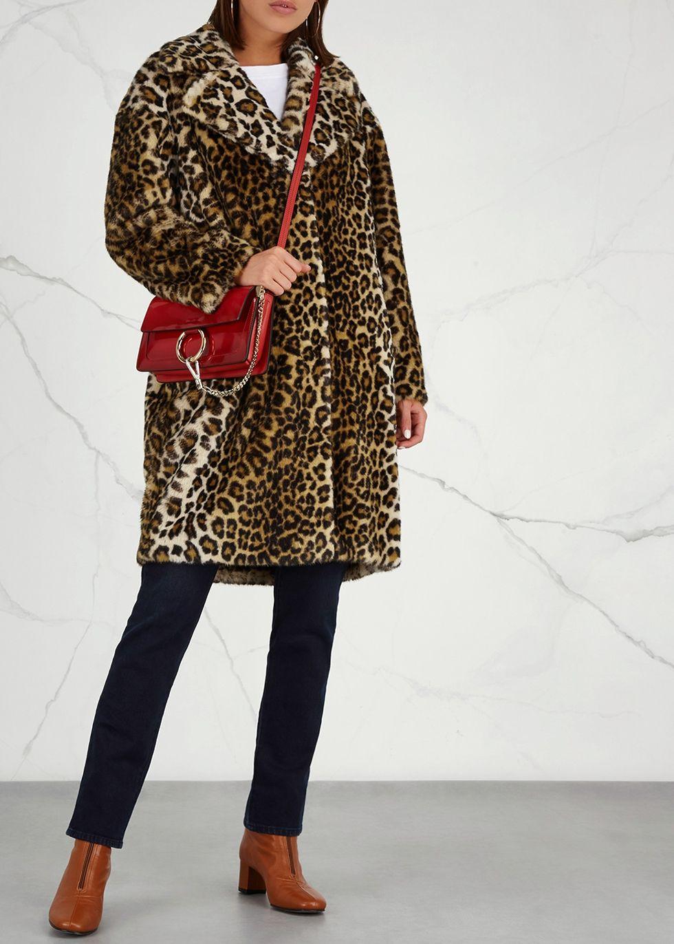 a6afde8d5 Camille leopard-print faux fur coat in 2019