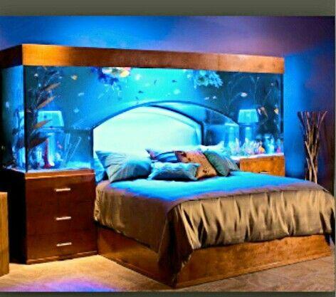 "Aquarium Headboard amazing fish tank ""headboard"" beautiful glow, amazing.in every"