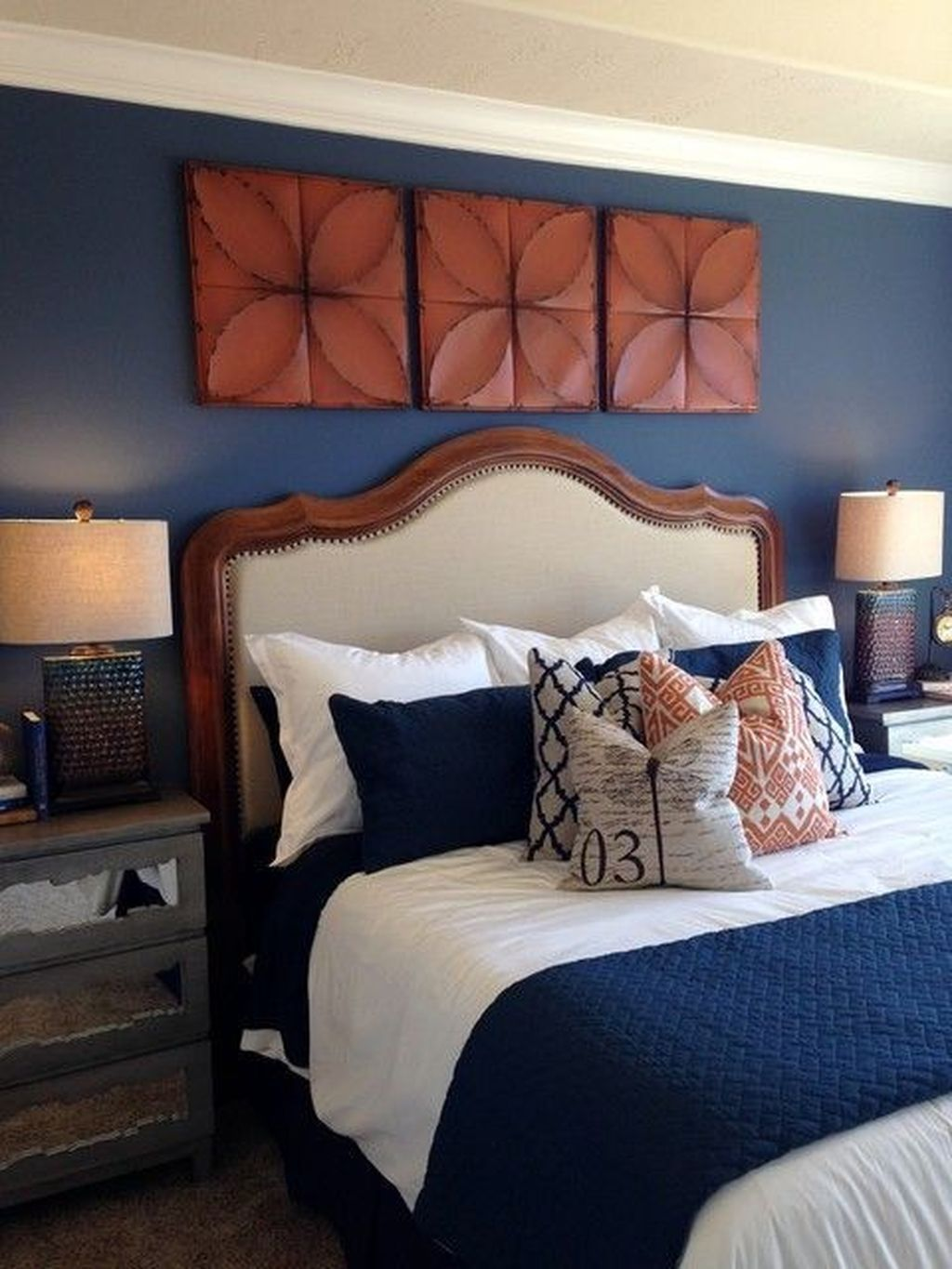 Popular Navy Color Master Bedroom Decoration Ideas  Blue master