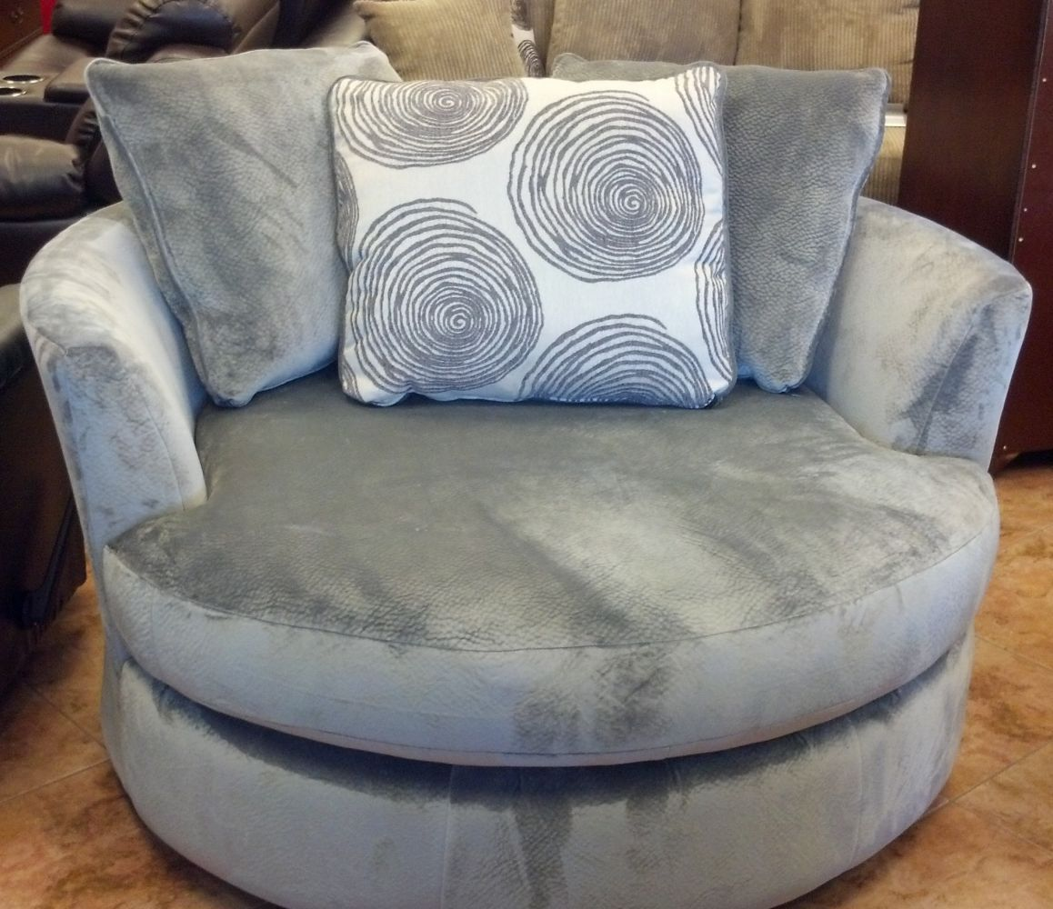 The Accent Swivel Chair That Matches The Groovy Sectional