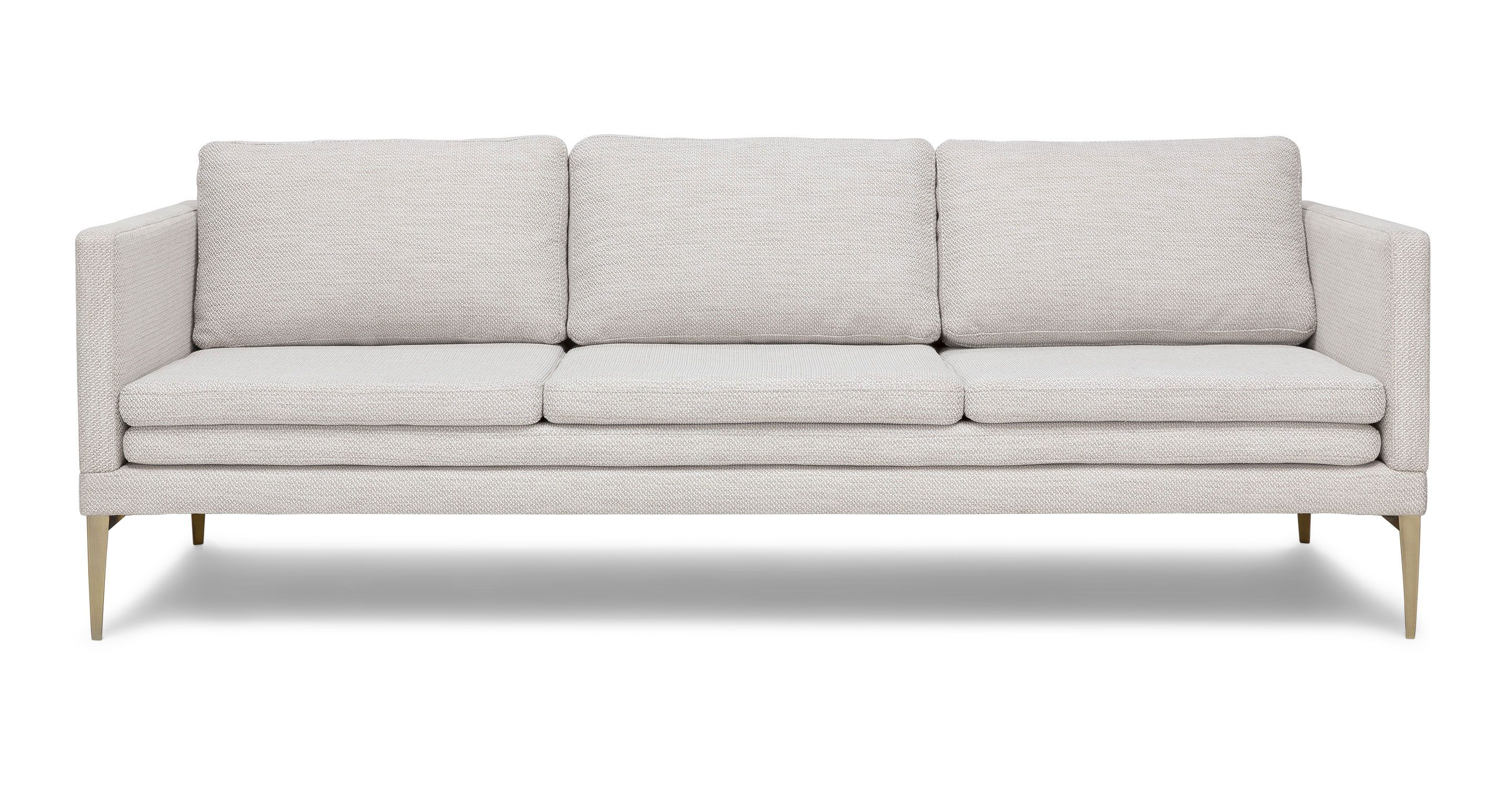 Ivory White Sofa With Metal Legs
