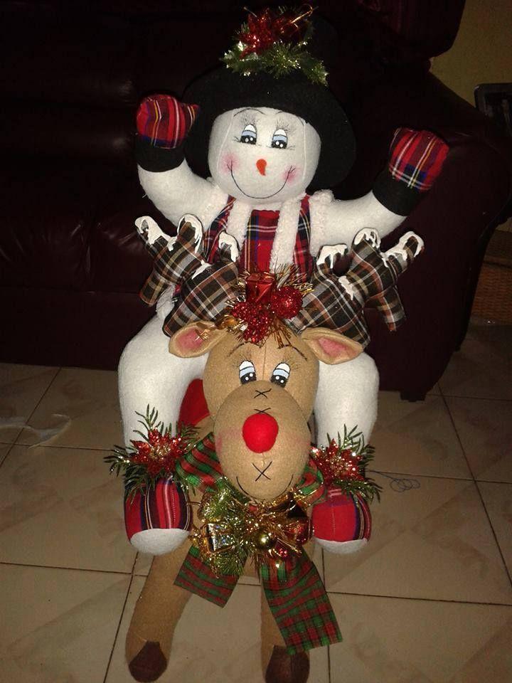 Reno y nieve manualidades navine as christmas for Manualidades renos navidenos