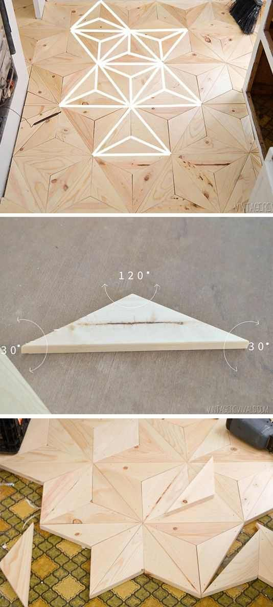 DIY Geometric Wood Flooring is part of How To Geometric Wood Flooring Make Make Diy Projects - thenuggetdiygeometricwoodflooring