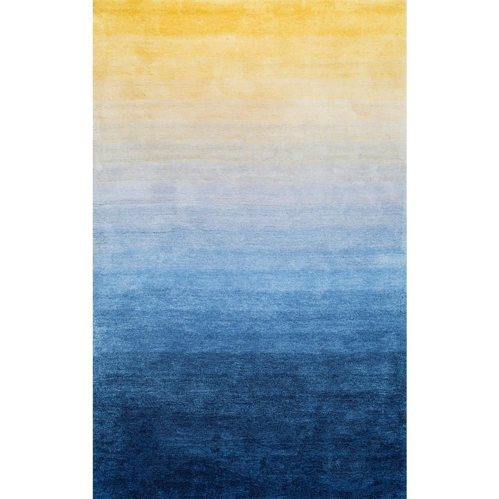Ombre Hertha Shaggy Navy (Blue) 5 ft. x 8 ft. Area Rug