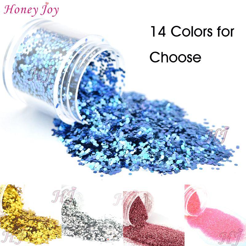 Glossy Glitter Sequins Dust Powder SIiver Golden Blue Decoration Powder/Paillette Hexagon Nail Art UV Gel Acrylic DIY Decals