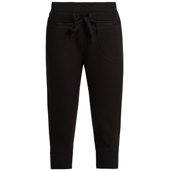 Adidas By Stella McCartney Studio cropped jersey sweatpants (€69) ❤ liked on Polyvore featuring activewear, activewear pants, black, adidas activewear, cuff sweatpants, cuffed sweatpants, cropped sweatpants and adidas sweatpants